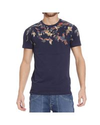 Frankie Morello | Blue T-shirt for Men | Lyst