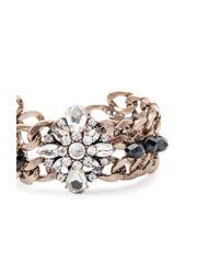 Forever 21 - Metallic Rhinestone Chain Bracelet - Lyst