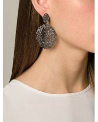 Aurelie Bidermann | Black Vintage Lace Earrings | Lyst