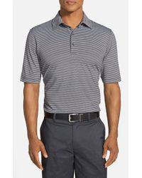Bobby Jones - Black 'Xh20 Micro Stripe' Tailored Fit Four-Way Stretch Golf Polo for Men - Lyst