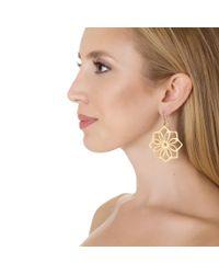Wendy Mink | Metallic Flower Cutout Earrings, Gold | Lyst