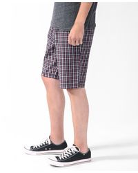 Forever 21 - Red Micro Plaid Shorts for Men - Lyst