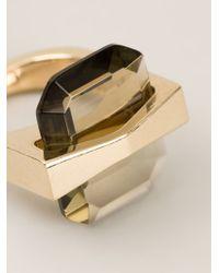 Alexander McQueen - Metallic 'bridge' Ring - Lyst