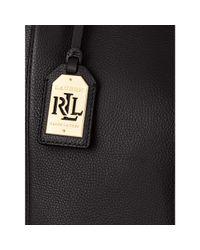 Ralph Lauren - Black Oxford Leather Tote - Lyst