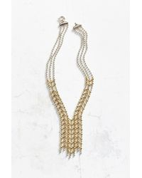 Giles & Brother - Metallic Apache 2-tone Cascade Necklace - Lyst