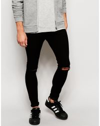 01e132131cf4 Lyst - Brooklyn Supply Co. Jeans Spray On Extreme Skinny Clean Black ...