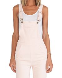 Wildfox - Pink Ladonna High-Rise Straight Overall - Lyst