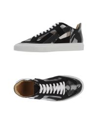 MM6 by Maison Martin Margiela - Black Low-tops & Trainers - Lyst