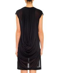 Helmut Lang - Black Swift Draped-back Dress - Lyst
