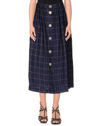 Erika Cavallini Semi Couture | Blue 3/4 Length Skirt | Lyst