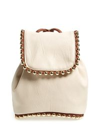 Big Buddha | White Studded Mini Backpack | Lyst