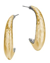 John Hardy - Metallic Palu Kapal Two-Tone Curved Hoop Earrings - Lyst