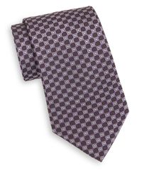 Saks Fifth Avenue - Purple Circle Silk Tie for Men - Lyst