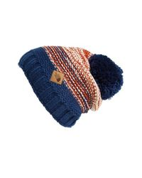 The North Face - Blue 'antlers' Beanie for Men - Lyst