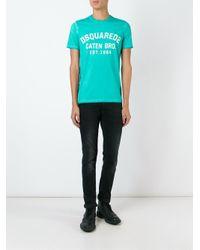 DSquared² - Blue Logo T-shirt for Men - Lyst