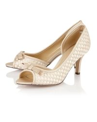 Lotus - Blue Berenice Peep Toe Shoes - Lyst