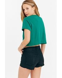 Truly Madly Deeply - Green St. Patty'S Day Cropped Tee - Lyst