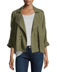 Current/Elliott - Green The Conductor Twill Jacket - Lyst