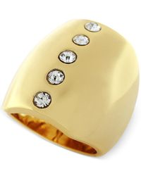 Vince Camuto - Metallic Gold-tone Crystal Dome Ring - Lyst