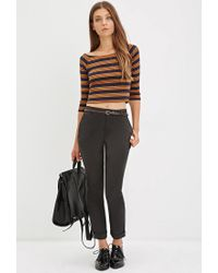 Forever 21 - Green Belted Chino Pants - Lyst