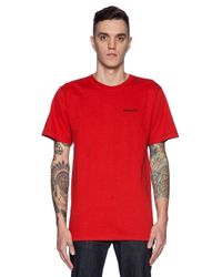 Patagonia - Red P6 Logo T-Shirt for Men - Lyst