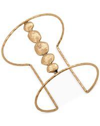Lucky Brand | Metallic Gold-tone Organic Cuff Bracelet | Lyst