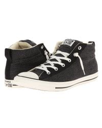 Converse - Black Chuck Taylor All Star High Rise Sneakers With Sherpa Lining - Lyst