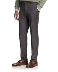 Polo Ralph Lauren | Gray Wool Twill Trousers for Men | Lyst