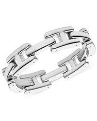 Tommy Hilfiger | Metallic Silver-Tone H Logo Link Bracelet | Lyst