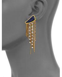 Lizzie Fortunato - Metallic Blue Moon Quartzite Tassel Drop Earrings - Lyst