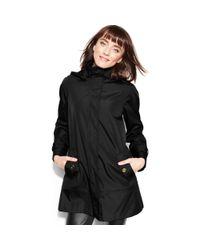 Calvin Klein - Black Hooded Raincoat - Lyst