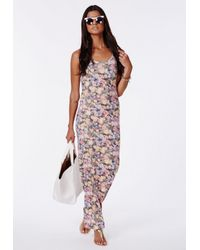 Missguided - Multicolor Bozena Floral Maxi Dress - Lyst