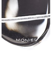 Monies | Black Large Oblong Bead Bracelet | Lyst