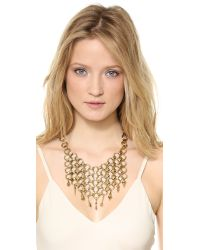 DANNIJO - Metallic Thor Necklace Antic Gold - Lyst