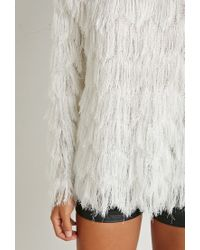 Forever 21 | White Tiered Fringe Top You've Been Added To The Waitlist | Lyst