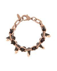 Joomi Lim | Metallic Crystal Skull Spike Bracelet | Lyst