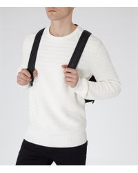 Reiss - White Prince Stripe Weave Jumper for Men - Lyst