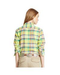 Polo Ralph Lauren | Blue Plaid Cotton Twill Workshirt | Lyst