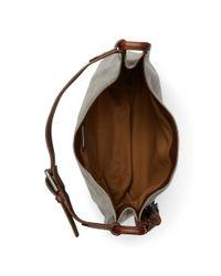 Polo Ralph Lauren - Metallic Leather Hobo Bag - Lyst