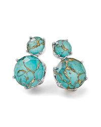 Ippolita | Green 'rock Candy' 2-stone Stud Earrings | Lyst