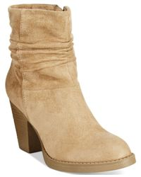 BC Footwear | Natural Bc Above And Beyond Slouch Booties | Lyst