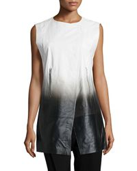 Lafayette 148 New York - Black Degrade Lambskin Yuri Vest - Lyst