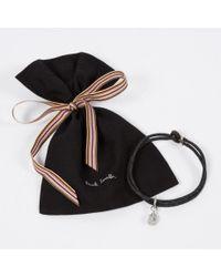 Paul Smith | Men's Silver Ganesh Charm Black Bracelet for Men | Lyst
