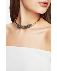 BCBGMAXAZRIA | Metallic Pave Chain Link Necklace | Lyst