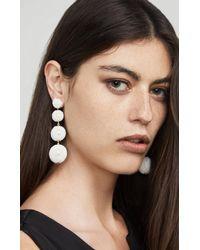 BCBGMAXAZRIA - White Beaded Drop Earrings - Lyst
