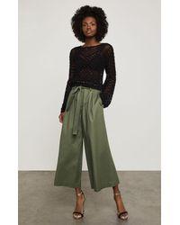 BCBGMAXAZRIA - Black Bcbg Open-stitch Crop Sweater - Lyst