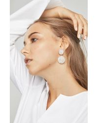 BCBGMAXAZRIA - Metallic Circle Stone Earrings - Lyst