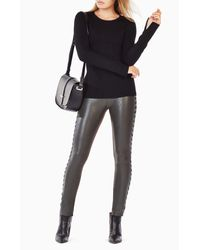 BCBGMAXAZRIA | Black Marinah Cable-knit Sweater | Lyst
