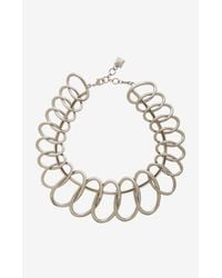 BCBGMAXAZRIA - Metallic Linked Oval Necklace - Lyst
