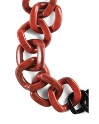 BCBGMAXAZRIA - Red Resin Chain-link Necklace - Lyst